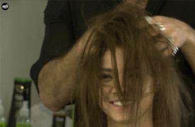 שיער אסוף לתסרוקת קלאסית